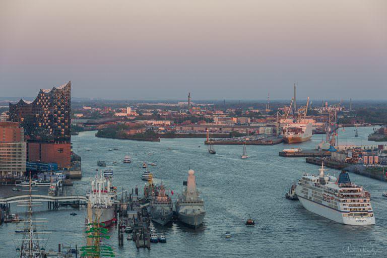 Blick auf den Hafengeburtstag 2016