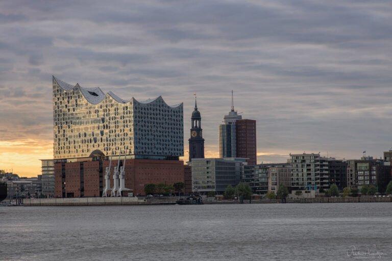 Blick vom Hansa Höft auf die HafenCity