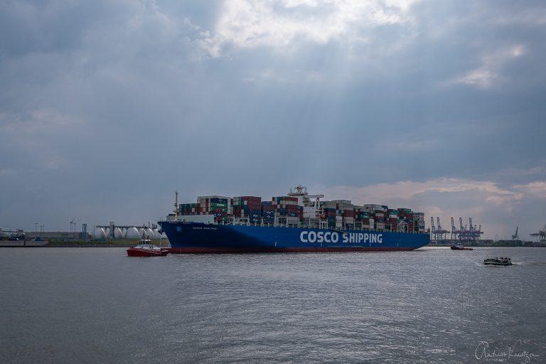 Containerschiff beim Holzhafen