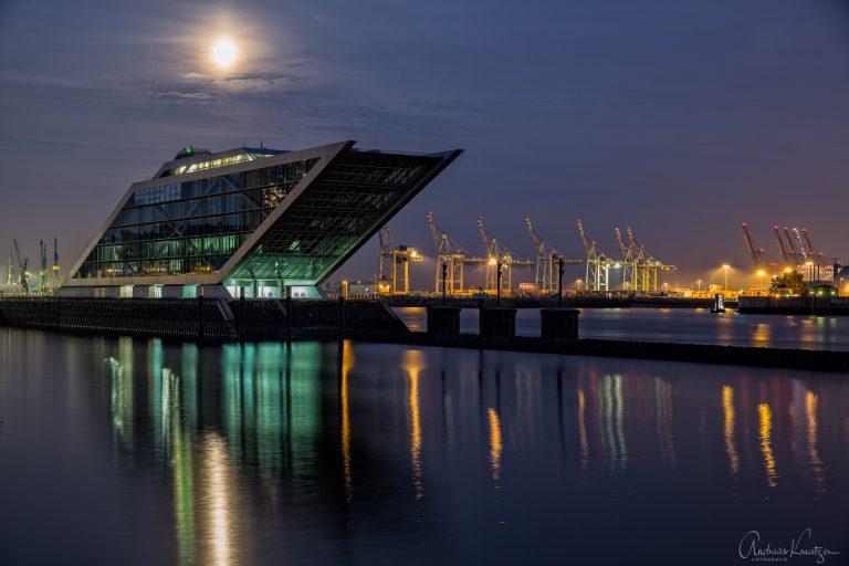 Dockland im Abendlicht