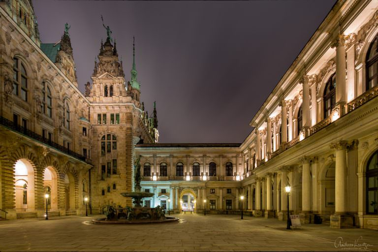 Innenhof vom Hamburger Rathaus