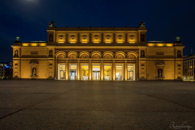 Kunsthalle Hamburg zur blauen Stunde