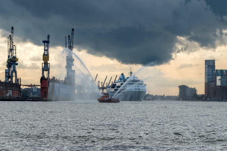 Silver Wind Erstanlauf in Hamburg