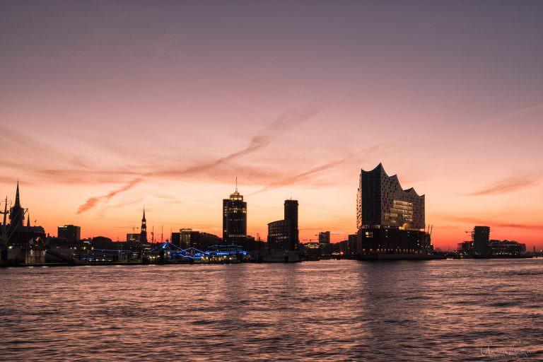 Sonnenaufgang bei der HafenCity