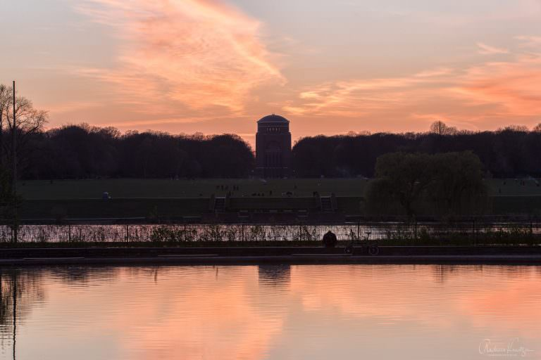 Sonnenuntergang am Hamburger Stadtpark