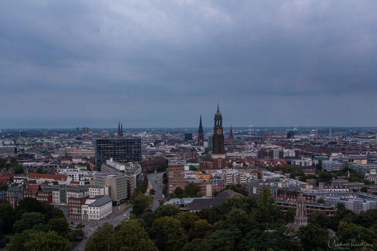 Blick auf die Hamburger City