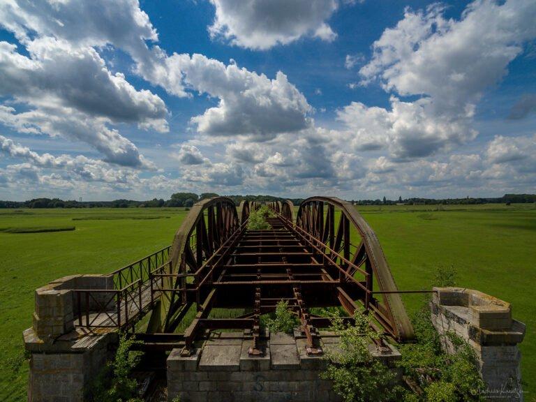Alte Eisenbahnbrücke in Dömitz an der Elbe