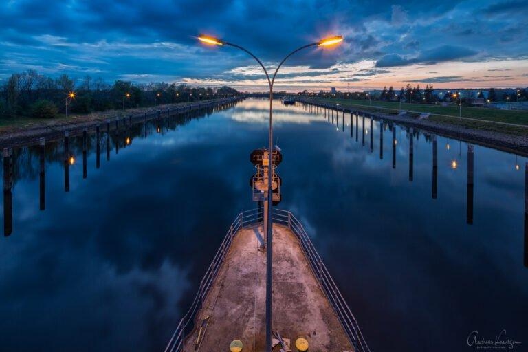 Schleusenkanal in Geesthacht/Hamburg